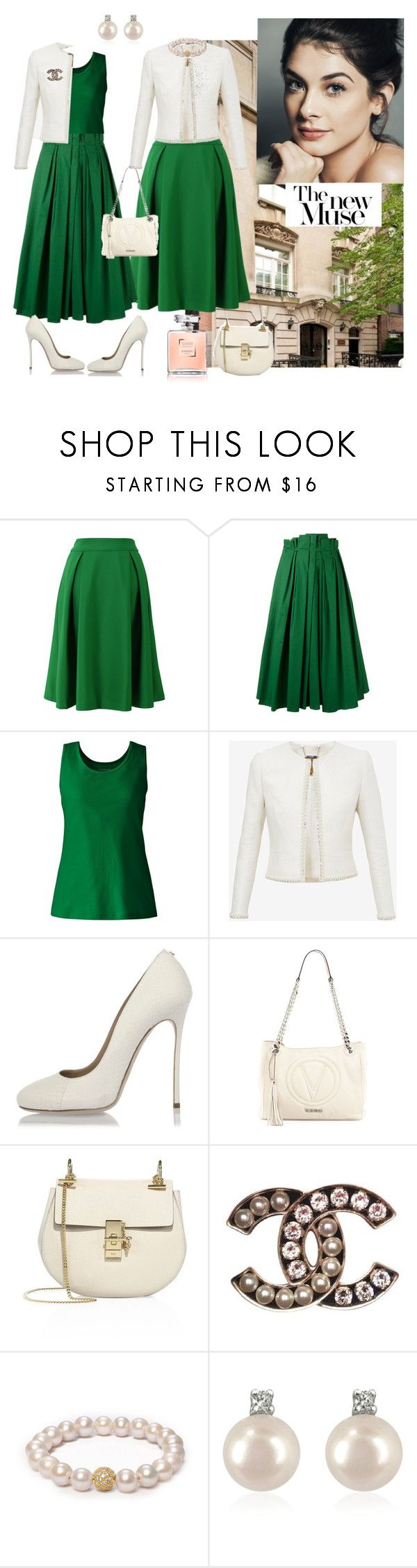 CHANEL by mariya-kovlyar on Polyvore featuring мода, Lands' End, Ted Baker, Rochas, Chicwish, Dsquared2, Chloé, Mario Valentino, Forzieri and ORA Pearls