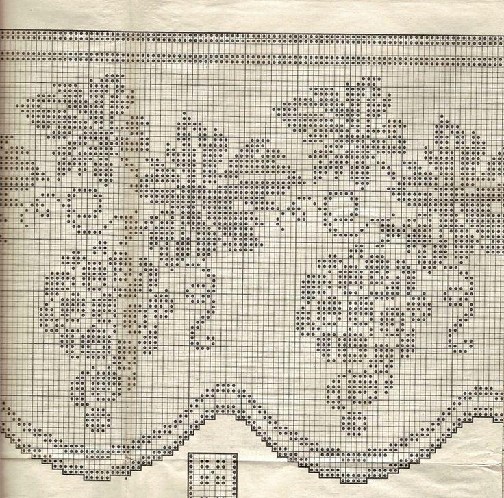 Gallery.ru / Фото #136 - Filet Crochet pour Point de Croix 2 - Mongia...some unusual filet charts, like a dancing R&R 1950s couple?!?