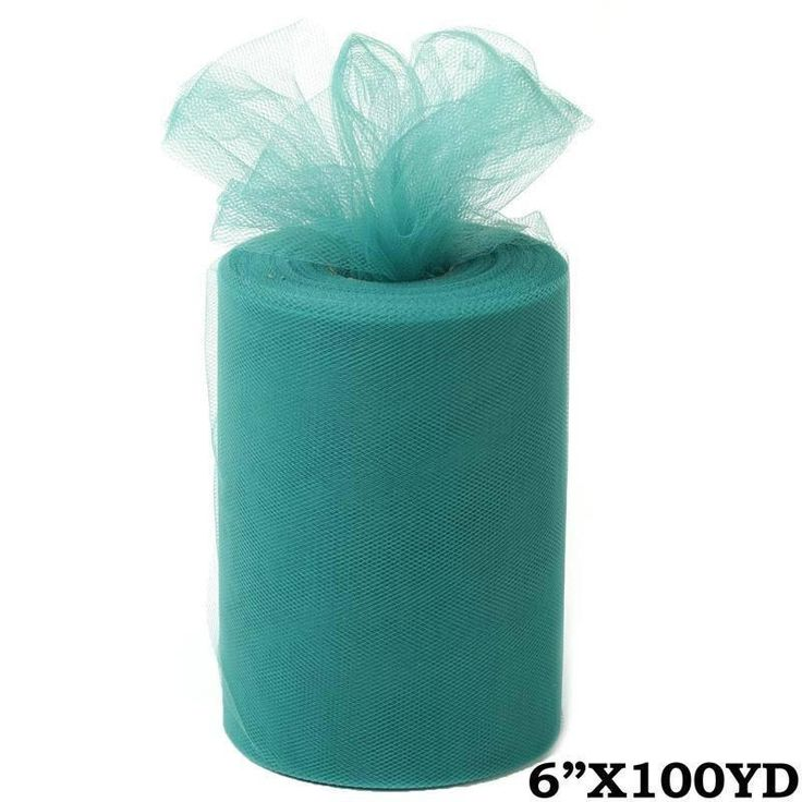 "6""x100yd Tulle Rolls - Hunter 