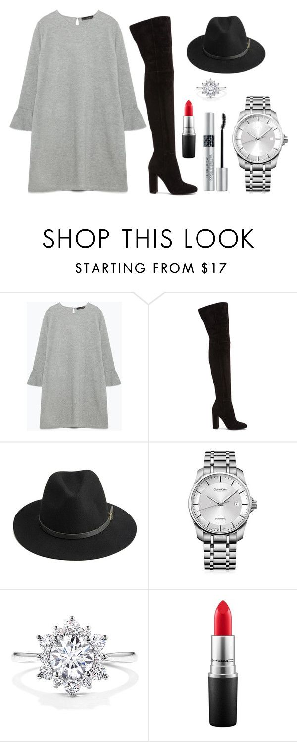 """""""Untitled #58"""" by rodoulla97 on Polyvore featuring Zara, Gianvito Rossi, BeckSöndergaard, Calvin Klein, MAC Cosmetics and Christian Dior"""