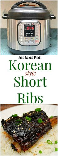 These Korean Style Short Ribs are not only easy to make, but you can put everything in a storage bag in advance and throw it all into your IP later for a satisfying dinner effortlessly. | What's Cookin, Chicago? (Paleo Cookies Easy)