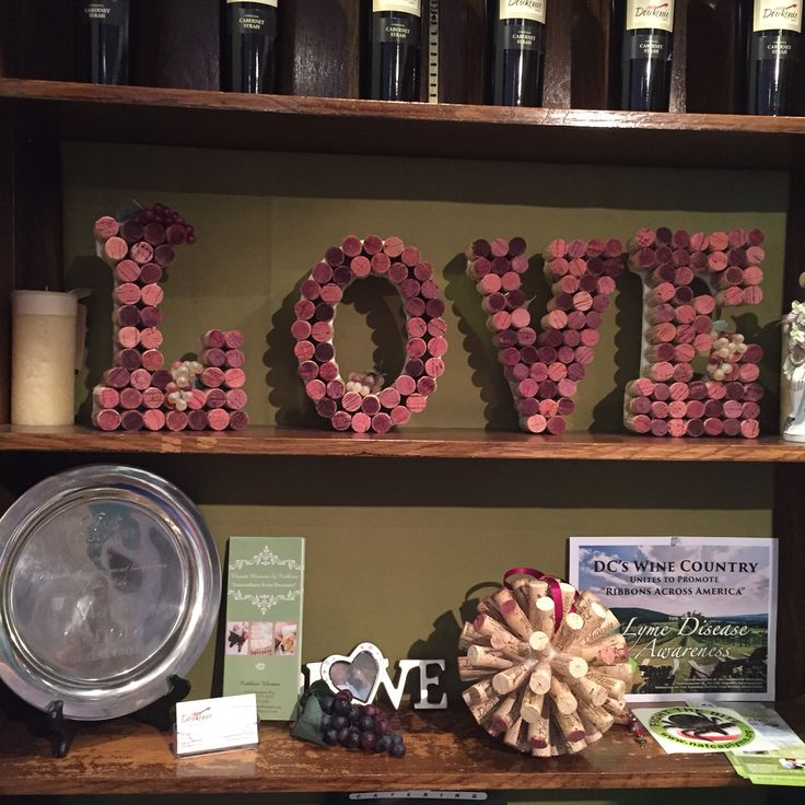 Love sign made out of wine corks!