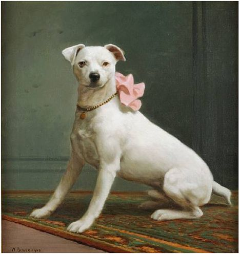 English White Terrier by William Bruce, 1903, sold for $17,080