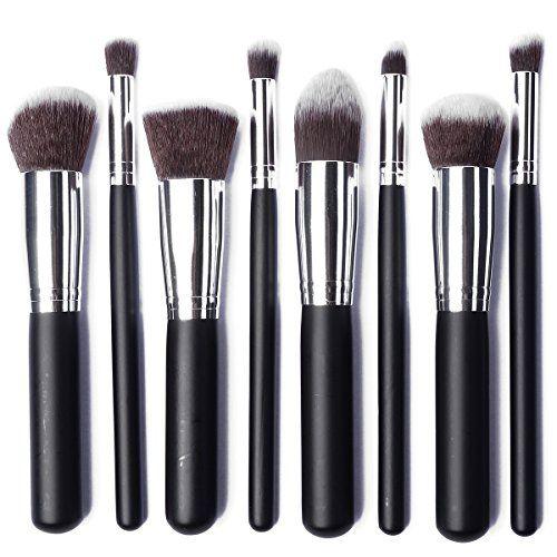 LuxeBell® Kit de Pinceau maquillage Professionnel 8PCS Ombre à Paupière argent Blush Fondation Pinceau Poudre Fond de teint Anti-cerne | Your #1 Source for Beauty Products