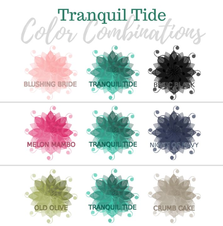 Valerie Martin Stampin Up In color 2017 2018 combinations ideas color story color schemes card making Tranquil Tide