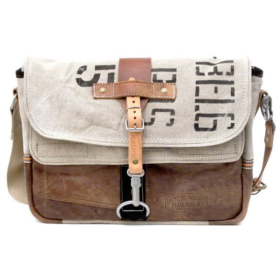 Awesome upcycled messenger bag. Lots of other cool bags at this Etsy shop.