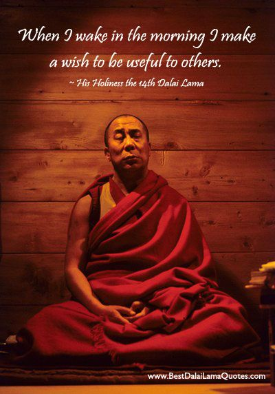 When I Wake In The Morning I Make A Wish To Be Useful To Others. ~ Dalai Lama
