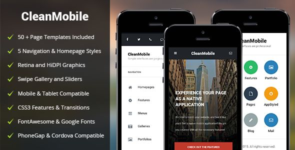 CleanMobile | Mobile & Tablet Responsive Template