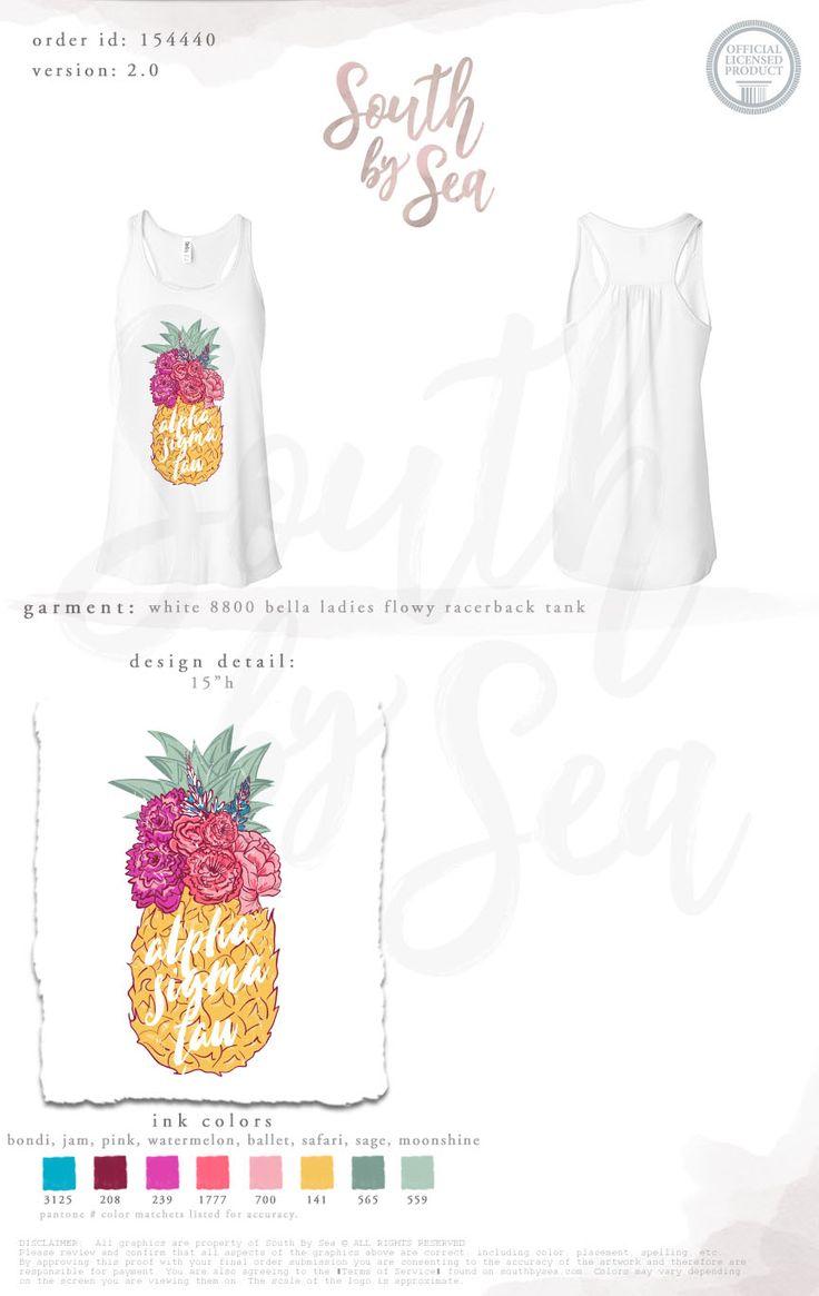 Alpha Sigma Tau | AST | Pineapple Design | Sisterhood | Recruitment | Bid Day | Tropical | South by Sea | Greek Tee Shirts | Greek Tank Tops | Custom Apparel Design | Custom Greek Apparel | Sorority Tee Shirts | Sorority Tanks | Sorority Shirt Designs