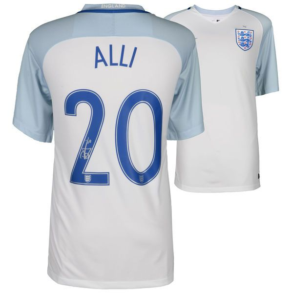 Dele Alli England National Team Autographed 2016-2017 Home Jersey - ICONS - $499.99