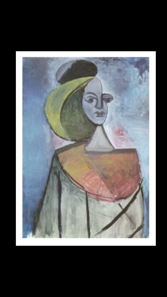 Dora Maar - Portrait de femme à la chevelure blonde - Gouache - 104 x 75 cm