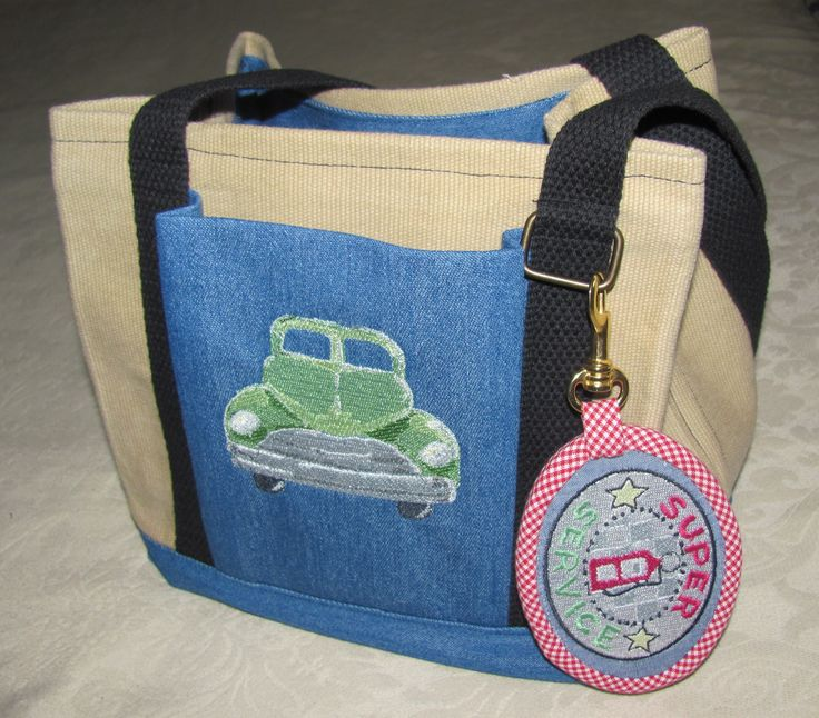 embroidables on tote