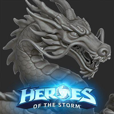 Hanamura Dragon Core, Bryan Marony on ArtStation at https://www.artstation.com/artwork/o1ONq