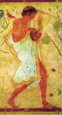 ETRUSCHI DIVERTIMENTI ~ Un altro celebre strumento etrusco era la tromba, la Tyrrhenica Tuba.
