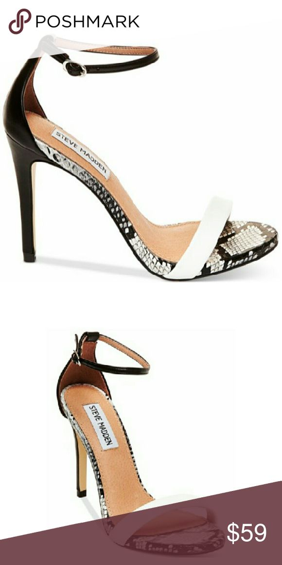 Steve Madden Ankle Strap Sandals A slim ankle strap lends a dash of  on-trend elegance to a clean, simplified high heel sandal. According to the  manufacturer ...