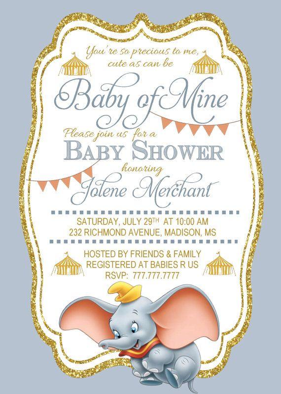 Preciosa invitación para un baby shower