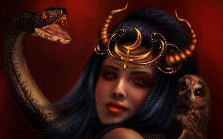 Lilith drawing wallpaper
