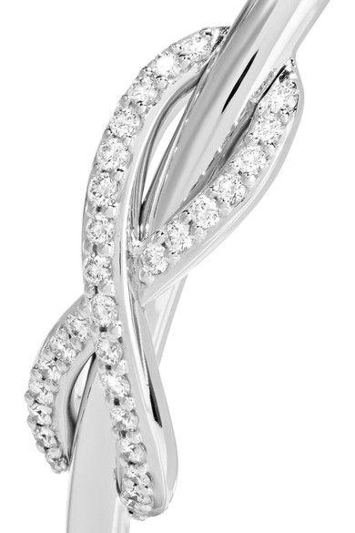 Tiffany & Co. - Double Infinity 18-karat White Gold Diamond Cuff -
