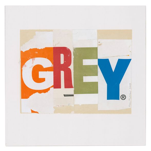 Grey | Alan Fletcher Alan Fletcher used typographic collages to explore the visual correspondence between words and pictures.
