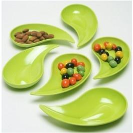 Piccola ciotola per snack e salse 6pz. green in melamina 100% - Mebel