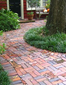 Antique Brick Patio, Dry Set On A Sand Base.