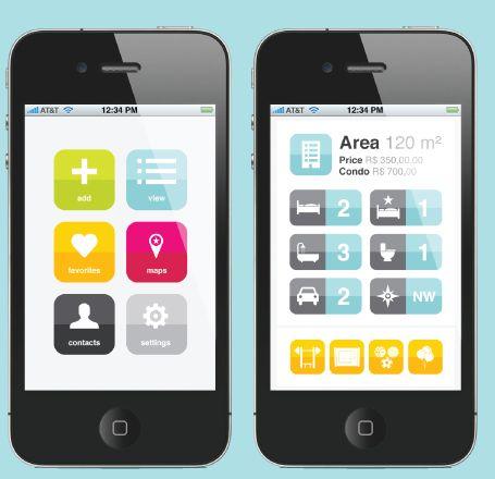 Nice user interface design for this Apartment locator iPhone App