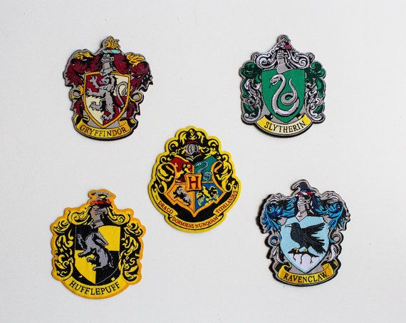 Hogwarts school crests patches iron-on