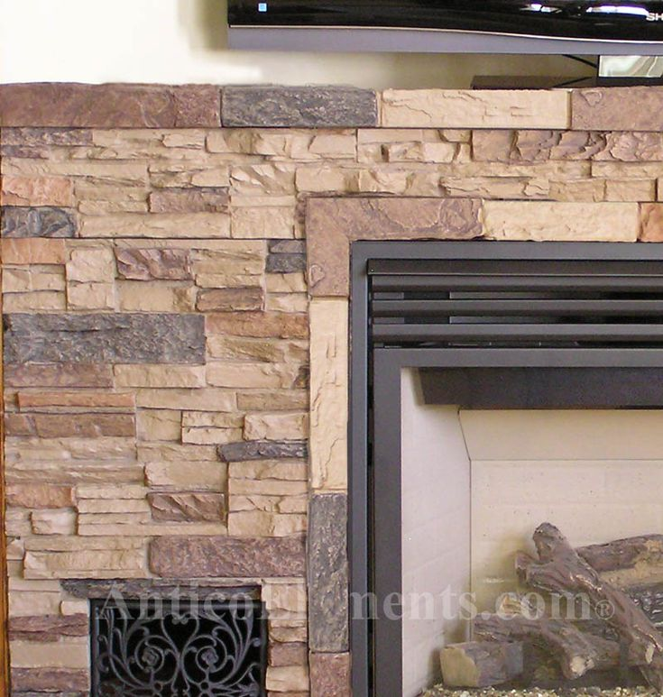 Interior Stone Wall Fireplace Prefab Fieldstone Fireplaces: 118 Best Stone Veneer/Faux Panels Images On Pinterest