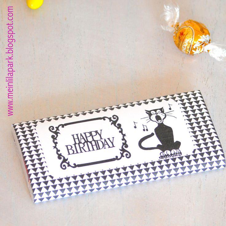 Free printable birthday chocolate wrap paper - ausdruckbares Geschenkpapier - freebie