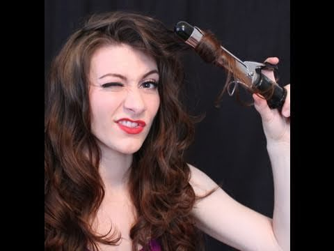 Curling Hair Tutorial - Getting a Natural Look! Have you always wanted the perfect, natural-looking curls? Tired of getting processed-looking curls that go flat in a couple hours? I'll take you though an easy technique for voluminous, flowing curls that last all day. My hair is naturally straight, but this style can be done on any hair type, shoulder length or longer! >>> Awesome!