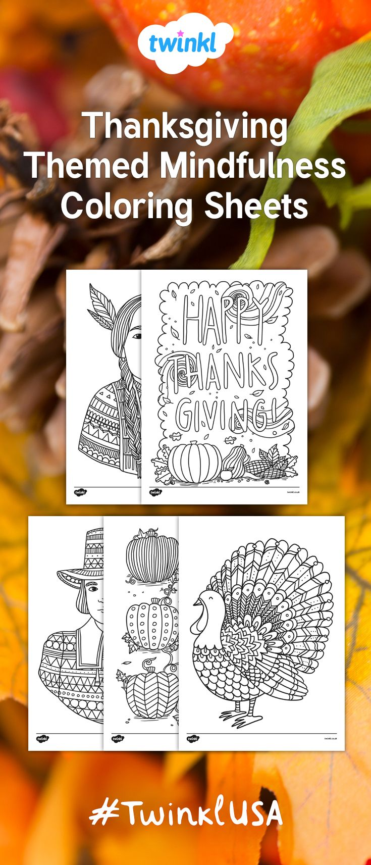 Fantastic fun book to color - These Lovely Thanksgiving Coloring Sheets Feature A Selection Of Different Images All Related To Thanksgiving Great For A Variety Of Activities