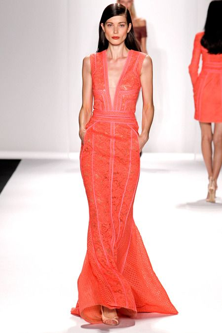 J. Mendel | Spring 2014 Ready-to-Wear Collection | Style.com -- great silhouette if covered bust more