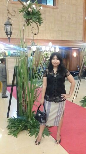 Black kebaya,songket skirt,shoes by rotelli