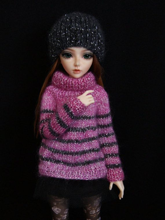 BJD Clothes Sweater and cap 1/4  MSD MiniFee. by CocoDolls on Etsy