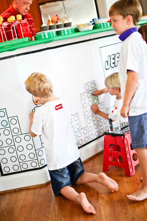 Too cool - Printable Lego Coloring Wall Poster