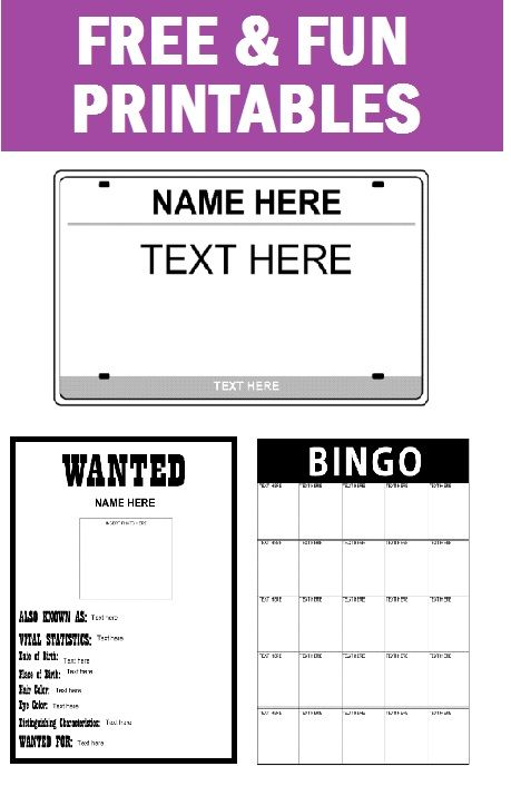 photograph relating to Printable License Plates Templates identify 3 Totally free Printable Sport Strategies towards Interact Pupils