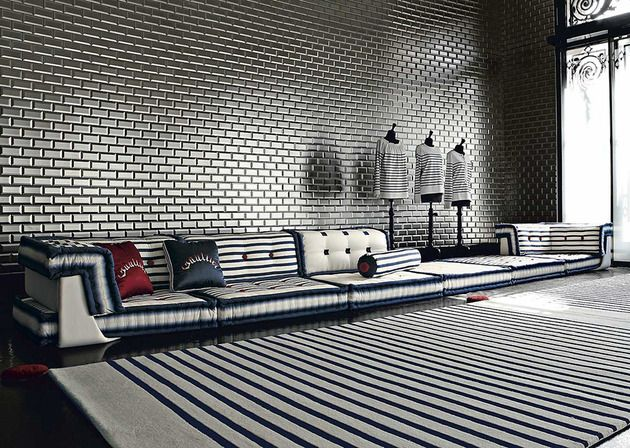 Nautisches Wohnzimmer-Design von Roche Bobois - #Dekoration, #WohnzimmerIdeen