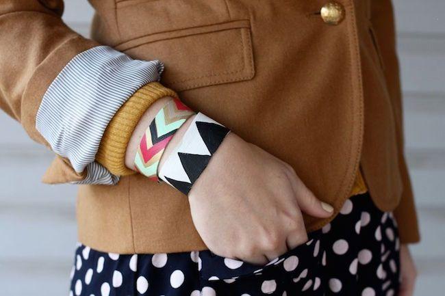 Haz tu propia pulsera de piel pintada :) #diy #handmade #manualidades