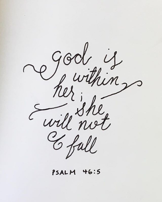 << God is within her, she will not fall >>