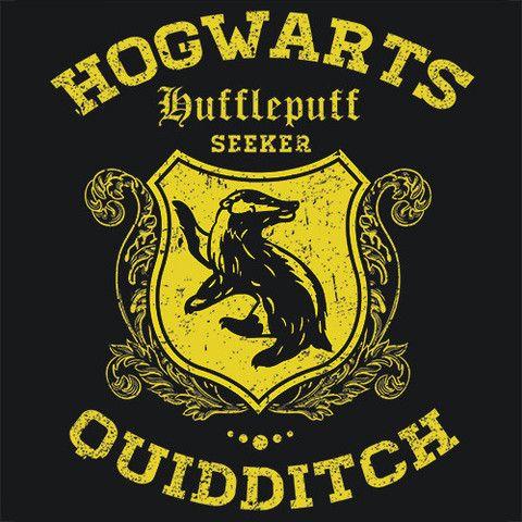 Hufflepuff Quidditch Cheap Funny T-Shirt Hogwarts Textual Tees