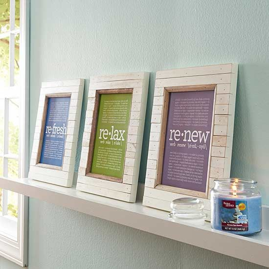 Looking for an easy, affordable way to dress up drab walls?