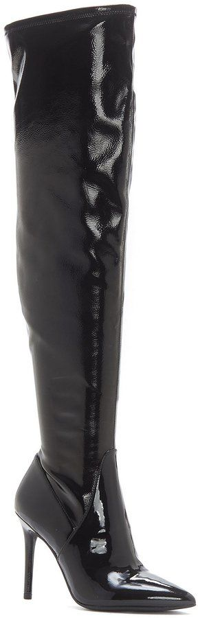 Jessica Simpson Loring Patent Stretch Over the Knee Boots