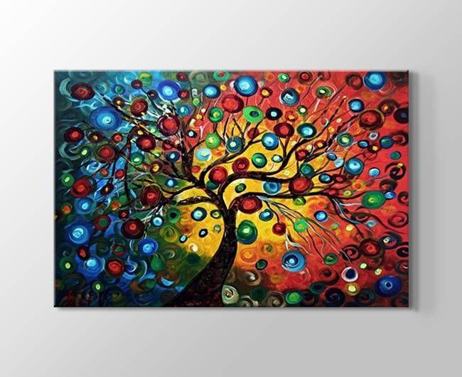 Busca imágenes de diseños de  estilo }: Renkli soyut ağaçlar kanvas tablosu. Encuentra las mejores fotos para inspirarte y y crear el hogar de tus sueños.