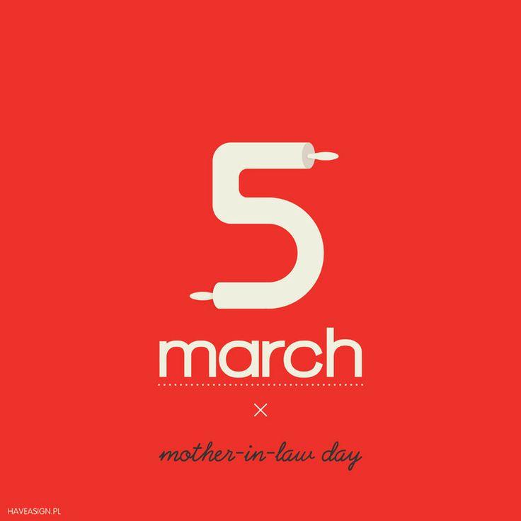 5th March - Mother-in-Law Day   /// Dzień Teściowej /// by haveasign