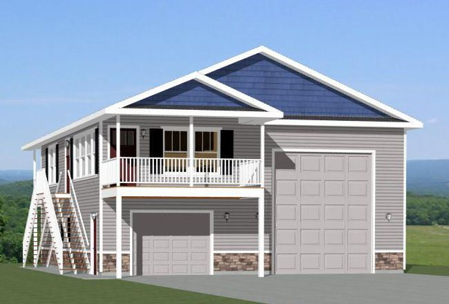 36x40 apartment with 1 car 1 rv garage pdf floor plan for Shop building plans with living quarters