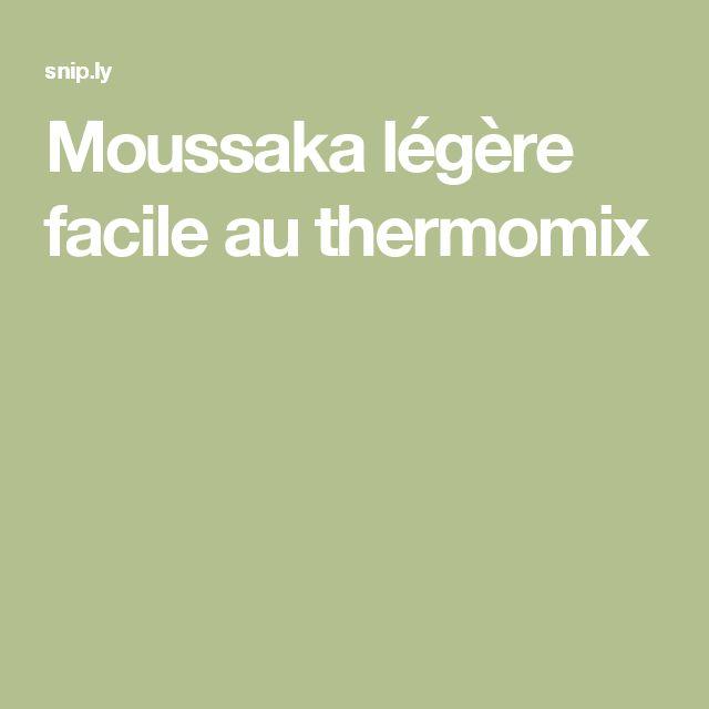 Moussaka légère facile au thermomix