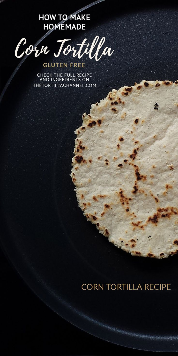 Only 3 ingredient and an easy how to make homemade corn tortilla. This recipe is gluten free.