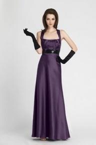 Purple dress and long black silk gloves  Style  Pinterest ...