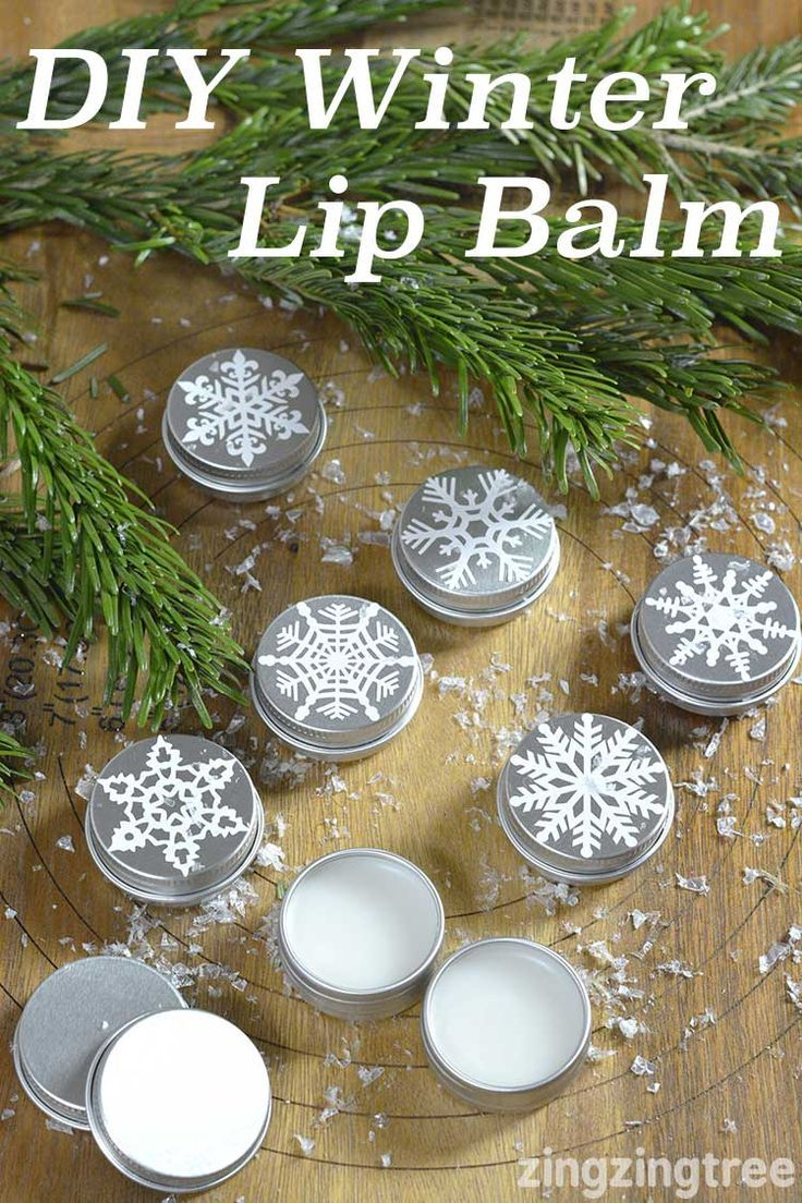 Super Easy Diy Winter Lip Balm using unrefined coconut oil, beeswax and sweet almond oil                                                                                                                                                                                 More
