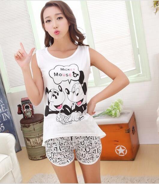 Shirt Autumn Women Pyjamas Clothing Brand Famaily Tracksuit Sleeveless Tops Shorts Set Female Pyjamas Sets Night Suit Sleepwear